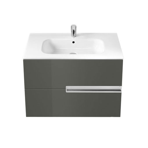 Roca - Victoria-N Unik 2 Drawer Vanity Unit with 800mm Basin - 4 x Colour Options profile large image view 4