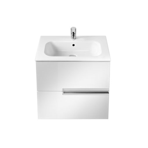 Roca - Victoria-N Unik 2 Drawer Vanity Unit with 600mm Basin - 4 x Colour Options profile large image view 2