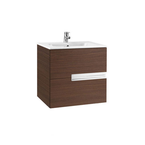 Roca - Victoria-N Unik 2 Drawer Vanity Unit with 600mm Basin - 4 x Colour Options profile large image view 1