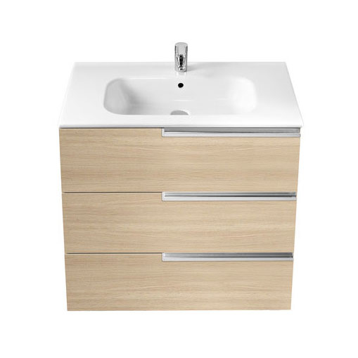 Roca - Victoria-N Unik 3 Drawer Vanity Unit with 800mm Basin - 4 x Colour Options Profile Large Image