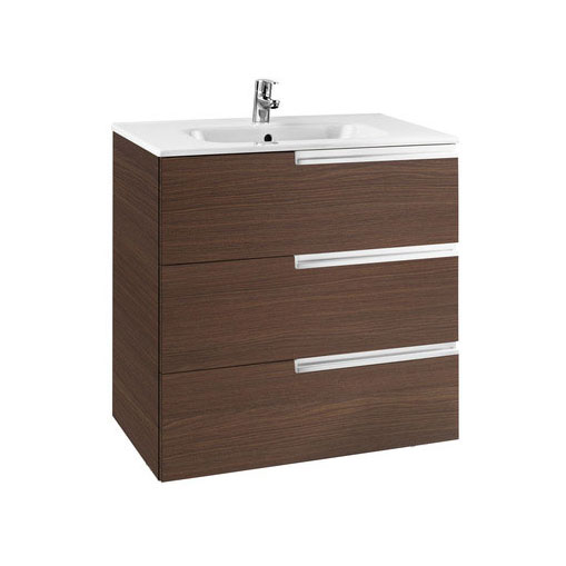 Roca - Victoria-N Unik 3 Drawer Vanity Unit with 800mm Basin - 4 x Colour Options Large Image
