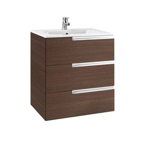 Roca - Victoria-N Unik 3 Drawer Vanity Unit with 600mm Basin - 4 x Colour Options Large Image