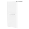 Matrix 10mm Glass Wetroom Screen (850 x 1900mm) inc. Chrome Retaining Arm profile small image view 1