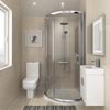 860 x 860mm Pacific Single Entry Quadrant & En-Suite Set profile small image view 1