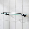 Miller Bond Black Glass Shelf - 8702B profile small image view 1