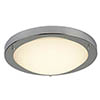 Searchlight 31cm Satin Silver Flush Fitting with Opal Glass - 8702SS profile small image view 1
