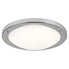 Searchlight 41cm Satin Silver Flush Fitting with Opal Glass - 8703SS profile small image view 1