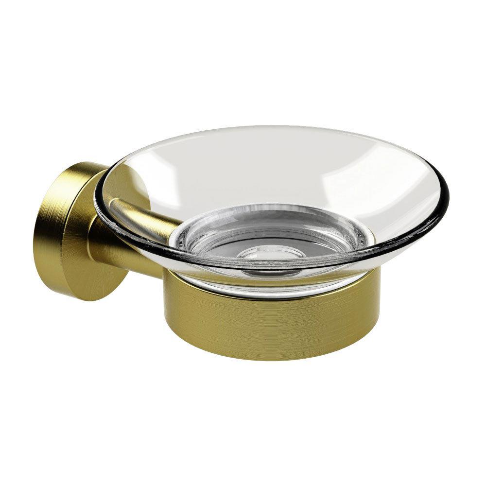 Miller Bond Brushed Brass Soap Dish - 8704MP1 Large Image