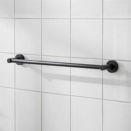 Miller Bond 495mm Black Towel Rail - 8706B