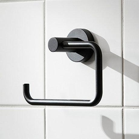 Miller Bond Black Toilet Roll Holder - 8710B