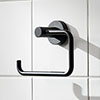 Miller Bond Black Toilet Roll Holder - 8710B profile small image view 1