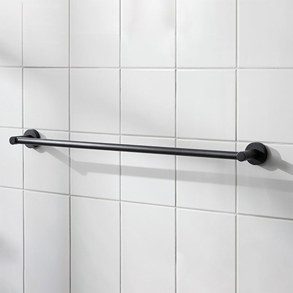 Miller Bond 645mm Black Towel Rail - 8716B
