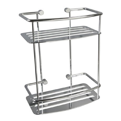 Miller - Classic D-Shaped 2-Tier Shower Basket - 871C