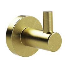Miller Bond Brushed Brass Single Hook - 8722MP1 Medium Image