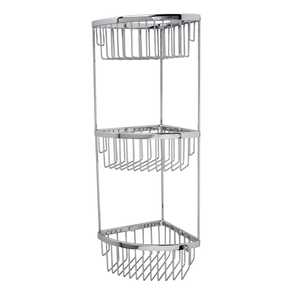 Miller - Classic 3-Tier Corner Shower Basket - 875C Large Image
