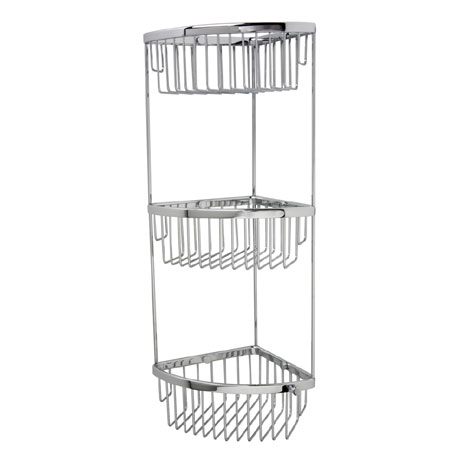 Miller - Classic 3-Tier Corner Shower Basket - 875C