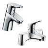 hansgrohe Focus 70 Basin Mixer + Bath Filler Tap Package profile small image view 1