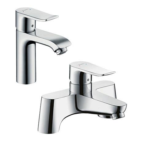 hansgrohe Metris 110 Basin Mixer + Bath Filler Tap Package