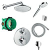 hansgrohe Round Complete Shower Set with Wall Mounted Shower Handset - 88100991 profile small image view 1