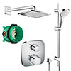 hansgrohe Square Complete Shower Set with Shower Slider Rail Kit - 88100992 profile small image view 1
