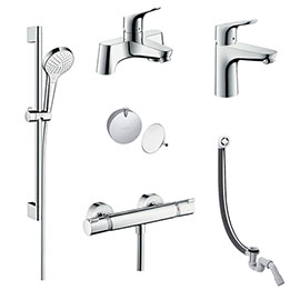 hansgrohe Over Bath Taps & Shower Package