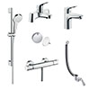 hansgrohe Over Bath Taps & Shower Package profile small image view 1