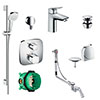 hansgrohe Over Bath Concealed Tap & Shower Package profile small image view 1