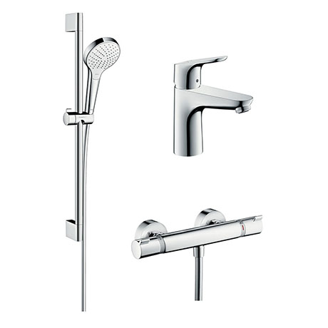 hansgrohe Thermostatic Shower System & Tap Package