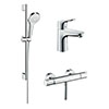 hansgrohe Thermostatic Shower System & Tap Package profile small image view 1