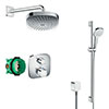hansgrohe Ecostat E Square Complete Shower Set with Croma Select E Shower Slider Rail Kit profile small image view 1