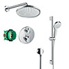 hansgrohe Ecostat S Round Complete Shower Set with Shower Slider Rail Kit profile small image view 1