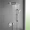 hansgrohe Ecostat E Square Complete Shower Set with Shower Slider Rail Kit profile small image view 1