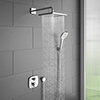 hansgrohe Ecostat E Square Complete Shower Set with Wall Mounted Shower Handset profile small image view 1