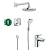 hansgrohe Croma Select E Complete Shower Set & Logis Tap Package profile small image view 1