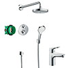 hansgrohe Croma Select S Complete Shower Set & Focus Tap Package profile small image view 1