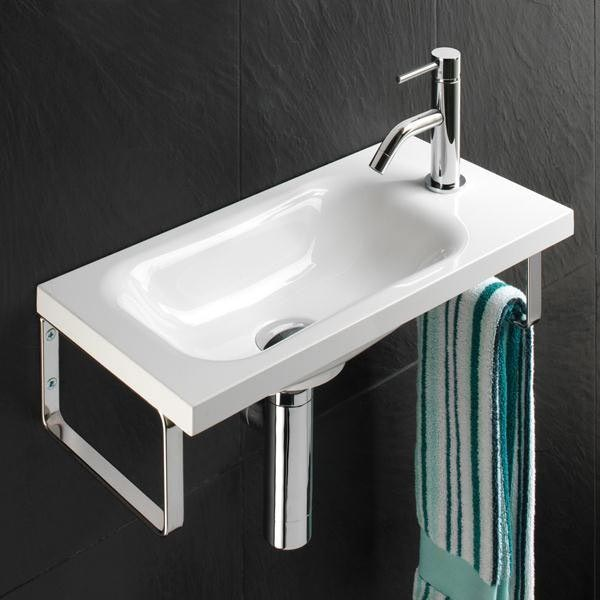 HIB Swirl 50cm Mineral Marble Washbasin - 8870 Large Image