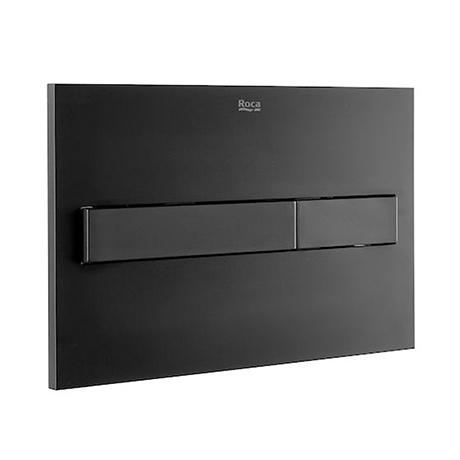Roca PL7 Operating Panel Dual Flush Plate - Matt Black - 890088206