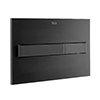 Roca PL7 Operating Panel Dual Flush Plate - Matt Black - 890088206 profile small image view 1