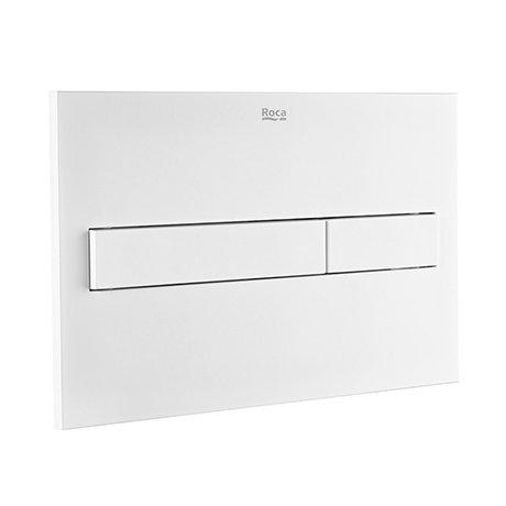 Roca PL7 Operating Panel Dual Flush Plate - Matt White - 890088207