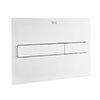 Roca PL7 Operating Panel Dual Flush Plate - Matt White - 890088207 profile small image view 1