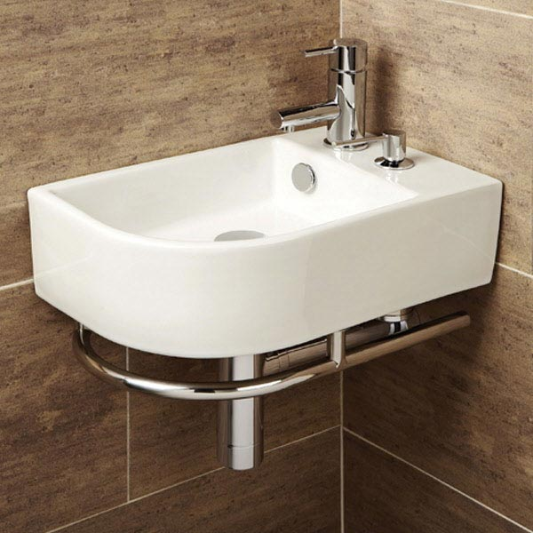 HIB Africo Washbasin with Towel Rail & Soap Dispenser - 8919 profile large image view 1