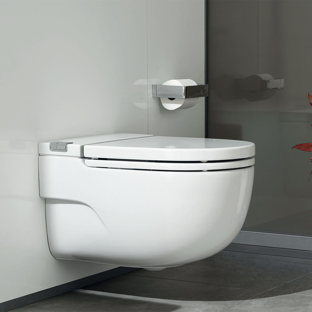 Roca In-Tank Meridian Wall Hung Toilet with Integrated Cistern, Soft Close Seat + Frame