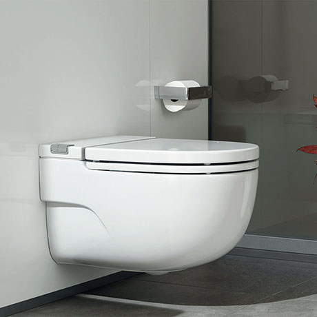 Roca In-Tank Meridian Wall Hung Toilet with Integrated Cistern + Soft Close Seat