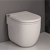 Roca In-Tank Meridian Back To Wall Toilet with Integrated Cistern + Soft Close Seat profile small image view 1