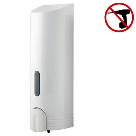 Euroshowers - Tall Single Liquid Dispenser - White - 89710