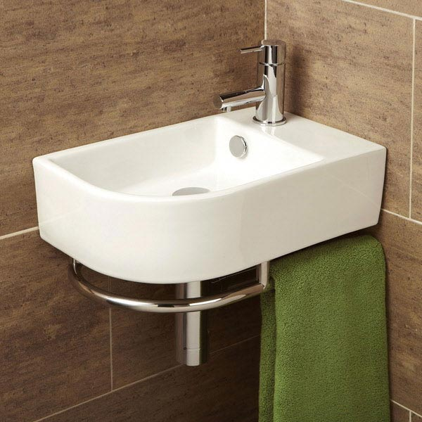 HIB Temoli Washbasin with Towel Rail - 8976 profile large image view 1