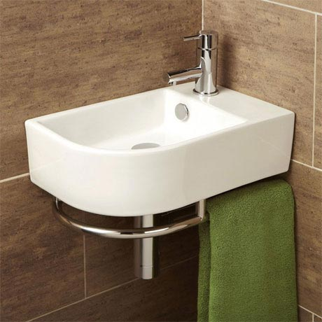 HIB Temoli Washbasin with Towel Rail - 8976