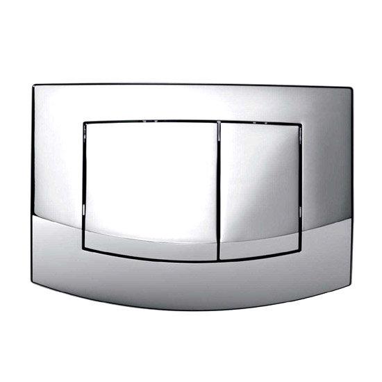Dual Flush Chrome Push Button Plate - 9.240.226 Large Image