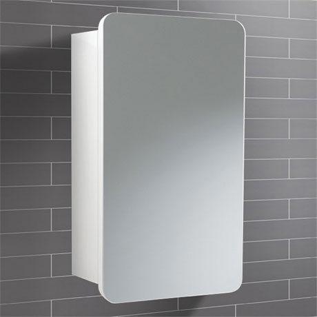 HIB Montana Gloss White Mirror Cabinet - 9101100