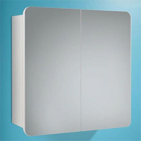 HIB Lanzo Gloss White Mirror Cabinet - 9101200